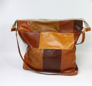 Double Function - Multi Tone - Brown Leather Bag