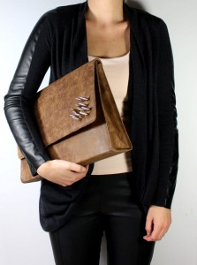 Spiny Briefcase - Vintage Brown Leather