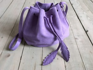 Little Bucket Lavender Suede Ready to Go!