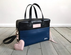 Torba Git Black + Navy + Pale Pink + Heart