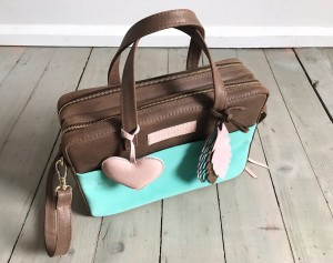 Torba Git Brown + Mint + Heart + Feathers